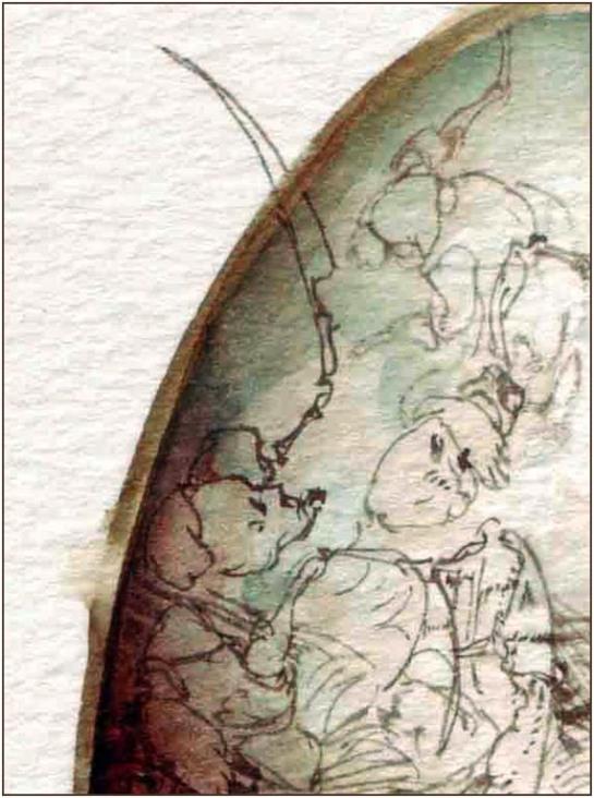 Fariñas, acuarela, fragmento, 2010