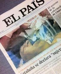 """La portada con la foto """"exlusiva"""" de El País"""