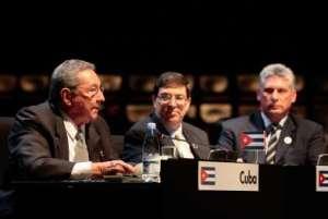El presidente de Cuba interviene en la Cumbre de la CELAC de Santiago de Chile