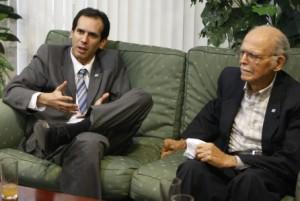 Mijail Bonito junto a Hubert Matos