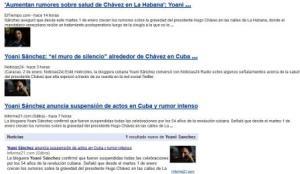 Yoani Sánchez: uno de los instrumentos para la campaña necrofílica sobre Chávez
