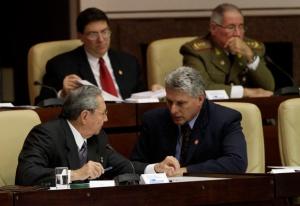 El presidente Raúl Castro junto al Vicepresidente Primero Miguel Díaz-Canel