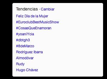 La etiqueta #YoaniYCIA entre los temas más populares del momento en Twitter.
