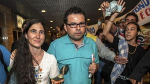 Dado Galvao recibe en Barsil a Yoani Sánchez