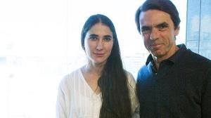 Yoani Sánchez junto a José María Aznar
