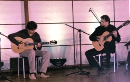 """Los guitarristas Josué Tacoronte y Rubén González en el concierto """"Brower Flamenco"""""""