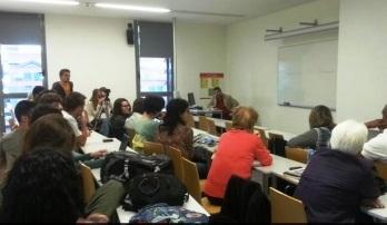 Encuentro con estudiantes de la Facultad de Comunicación Pompeu Fabra