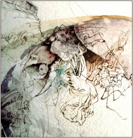 Fariñas, acuarela, fragmento, 2012