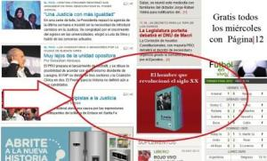 """Anuncio de las """"Obras selectas de Lenin"""" en Página12"""