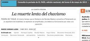 Artículo de Mario Vargas Llosa en El País, 5 de mayo