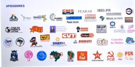Organizaciones e instituciones que apoyan la XXII convención de solidaridad con Cuba en Brasil