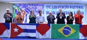Clausura de la XXI Convención de Solidaridad con Cuba en Brasil. Foto: Mariana Serafini