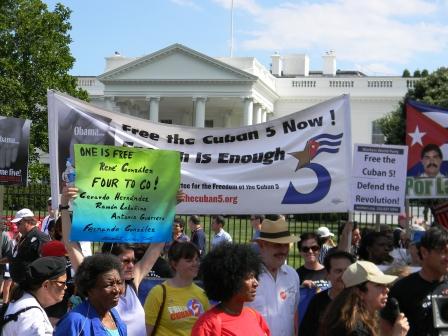 Manifestación este 1 de junio frente  a la Casa Blanca por la libertad de Los Cinco