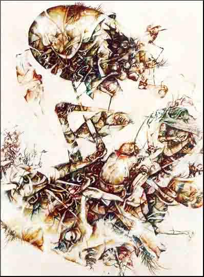 Fariñas. Naufragio, óleo, 1995