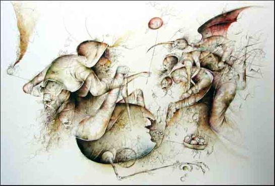 Fariñas, acuarela, sin título, 2012