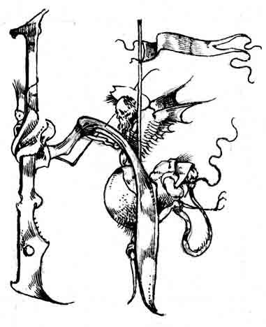 Fariñas. Capitular H, acuarela, 2005