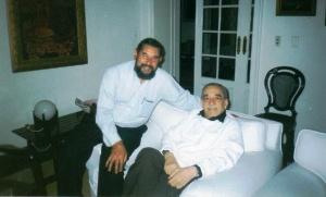 José Luis Díaz Granados junto a Gabril García Márquez