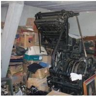 La imprenta de los Vanegas, utilizada para imprimir materiales del 26 de julio