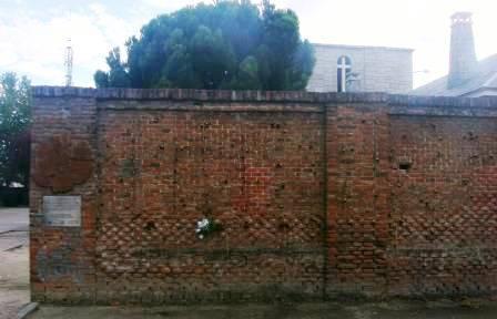 Muro donde fusilaron a víctimas del franquismo en el cementerio de La Almudena
