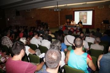 Acto en Benidorm junto a Willy Toledo y David Rodríguez. Foto: La Marina Plaza