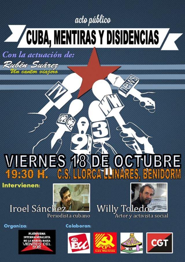 Cartel Cuba Iroel y Willy Benidorm