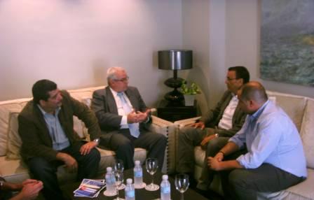 Reunión con el Presidente de la Diputación de Huelva, el Cónsul de Cuba y el portavoz de Izquierda Unida