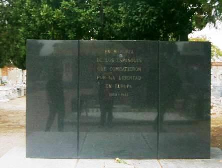 Monumento a los españoles que combatieron el fascismo en la Segunda Guerra Mundial