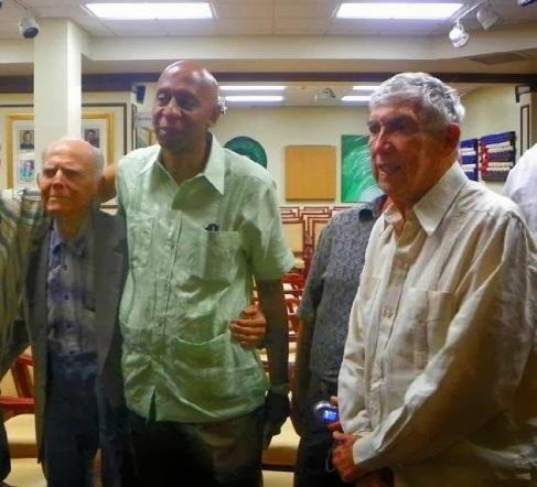 El disidente Guillermo Fariñas junto Luis Posada Carriles -autor del crimen de Barbados- y el también terrorista Hubert Matos