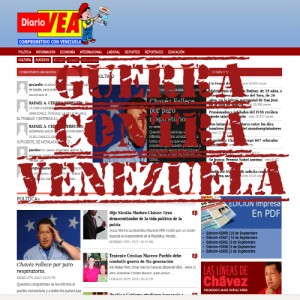 guerra mediatica contra venezuela