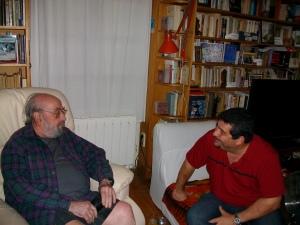 Junto a Alfonso Satre en Hondarribia