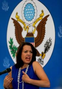 Kelly Keiderling Franz, la encargada de negocios de EEUU en Caracas y expulsada por el gobierno de Venezuela, reclutó para la CIA al doble agente cubano Raúl Capote. Foto: AP