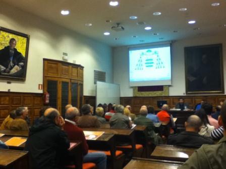 En el paraninfo de la Universidad de Oviedo