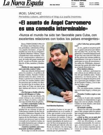"""Entrevista en """"La Nueva España"""""""