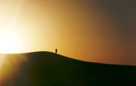 Soldado saharaui en la duna