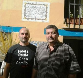 Con David Rodríguez en la casa donde vivió Martí en Valencia