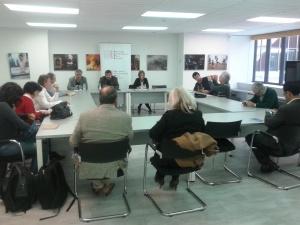 En el Centro de Prensa Internacional de Prensa de Madrid. Foto: David Rodríguez