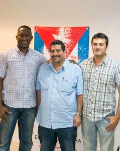 Con los pupilenses de Cubainformación: Lázatro Oramas y José Manzaneda
