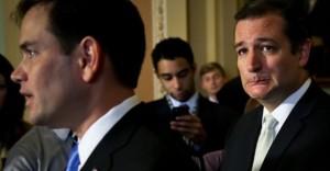 Marco Rubio (izq) y Ted Cruz (der). Foto: Alex Wong/ Getty Images