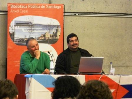 Con el presidente de la Asociación de Amistad con Cuba Francisco Villamil
