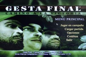 Gesta Final videojuego Cuba