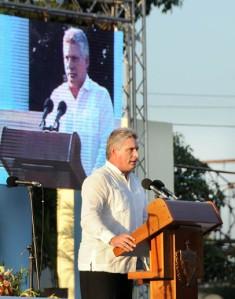 Acto por el 55 Aniversario de la entrada de Fidel a la Habana.