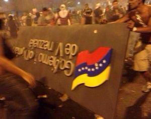 Grupos opositores en Venezuela el pasado 15 de febrero