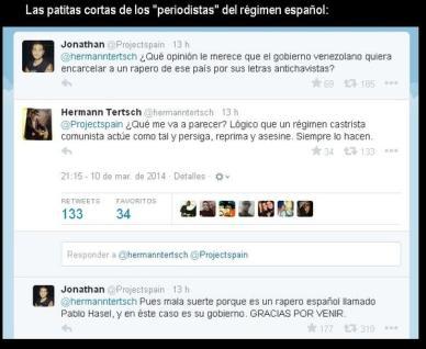 El periodista español Herman Tersch, atrapado en falta con el doble rasero mediático.