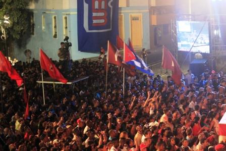 Público en concierto de bienvenida a Fernando González.