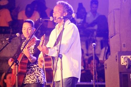 Gerardo Alfonso en concierto de bienvenida a Fernando González.