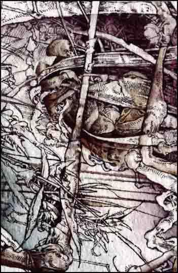 Fariñas, El remo del náufrago, acuarela, 2010. Colección Ars Liber, Pamplona.