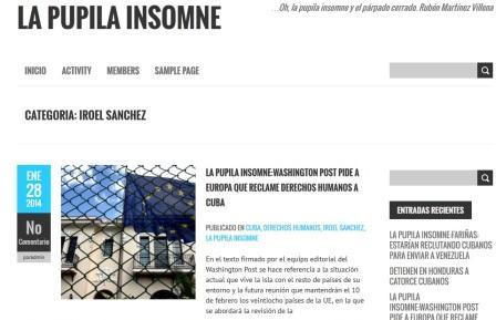 La imagen del blog fraudulento con mi nombre