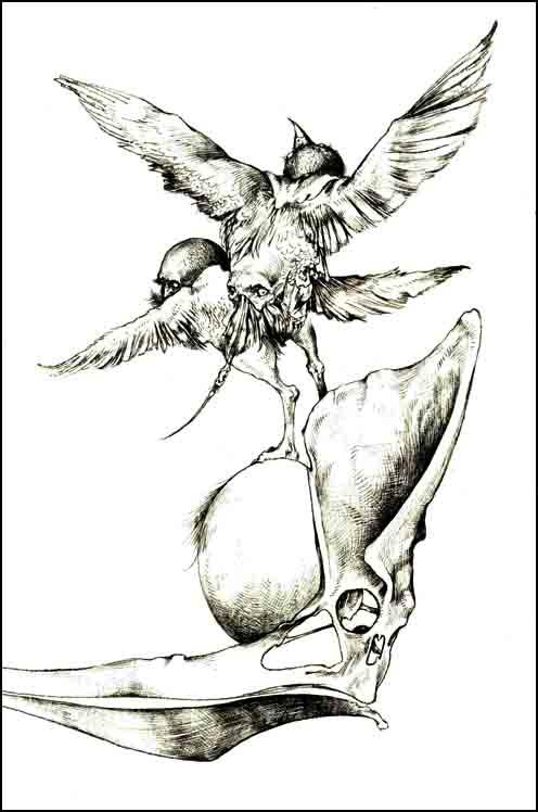 Fariñas, Diablo Ilustrado II. Acuarela, 2000