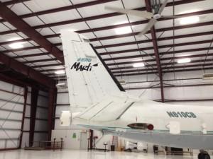 Avión de Radio Martí parqueado en Georgia. Foto: The Washington Post