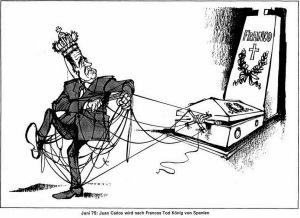 Caricatura de Haitzinger sobre el nombramiento de Juan Carlos como sucesor de Franco